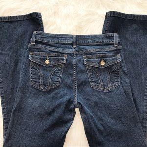 DKNY Women's Flap Button Pocket Bootcut Jeans